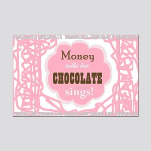 Chocolate Sings Chocolate Text Mini Poster Print