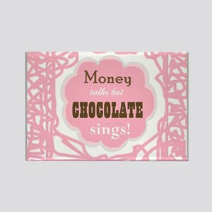 Chocolate Sings Rectangle Magnets