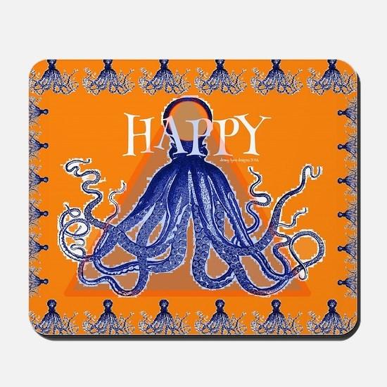 Too Happy Octopus Mousepad