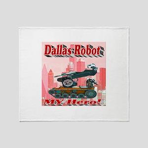 Dallas Robot My Hero! Throw Blanket