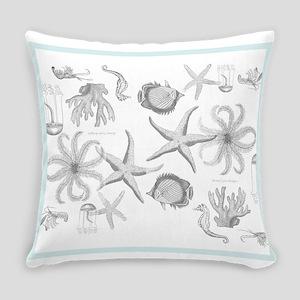 Misty Busy Ocean Everyday Pillow