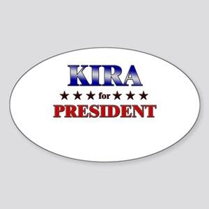 KIRA for president Oval Sticker