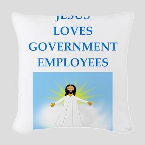 government Woven Throw Pillow