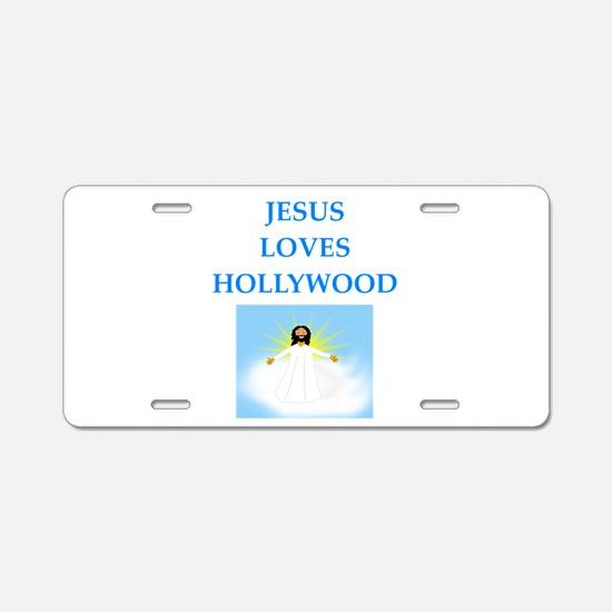 hollywood Aluminum License Plate