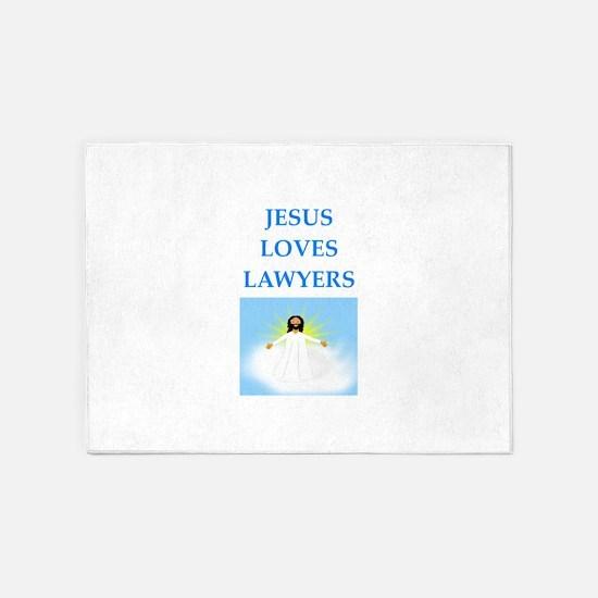 lawyer 5'x7'Area Rug