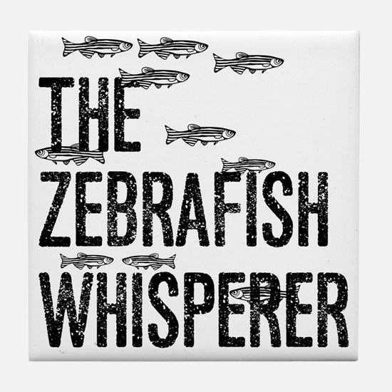 Zebrafish Whisperer Tile Coaster