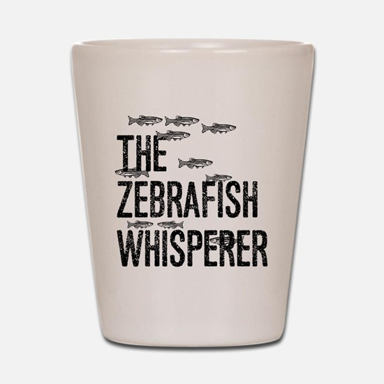 Zebrafish Whisperer Shot Glass