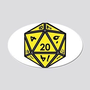 D20 Yellow Wall Decal