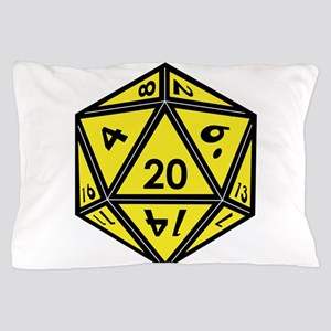 D20 Yellow Pillow Case