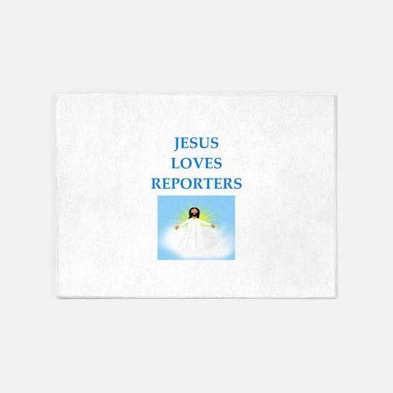 reporter 5'x7'Area Rug