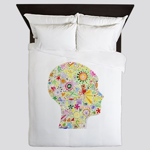 Right Brain in Motion Queen Duvet