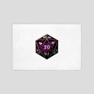 D20 color 4' x 6' Rug