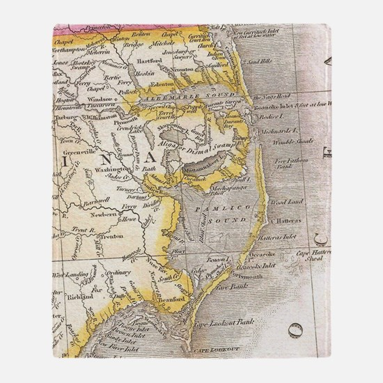 Cute Outer banks north carolina Throw Blanket