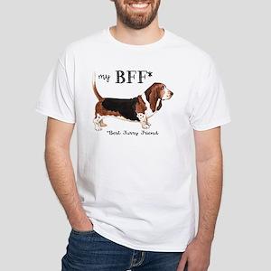 Basset BFF White T-Shirt