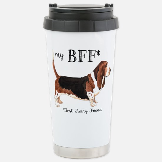 Basset BFF Stainless Steel Travel Mug