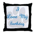 Love My Earthdog Throw Pillow