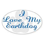 Love My Earthdog Oval Sticker