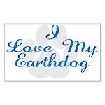 Love My Earthdog Rectangle Sticker