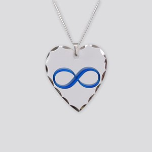 Infinity Symbol Necklace Heart Charm