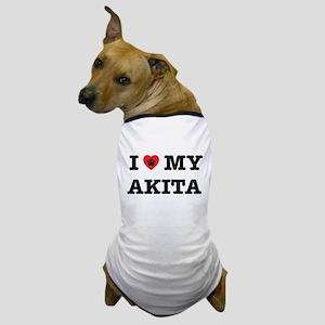 I Heart My Akita Dog T-Shirt
