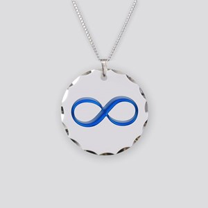Infinity Symbol Necklace Circle Charm