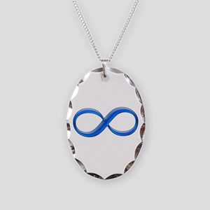 Infinity Symbol Necklace Oval Charm