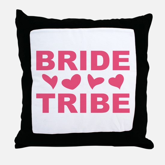 BRIDE TRIBE Throw Pillow