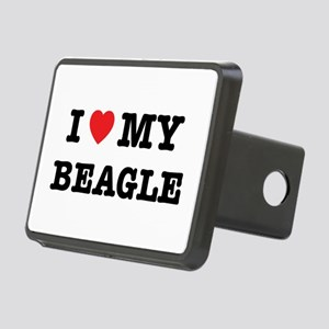 I Heart My Beagle Rectangular Hitch Cover