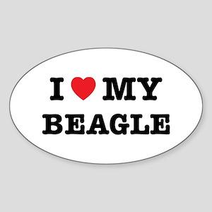 I Heart My Beagle Sticker
