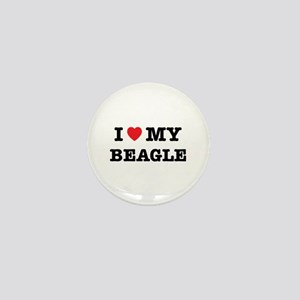 I Heart My Beagle Mini Button
