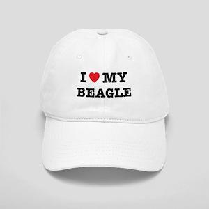 I Heart My Beagle Hat Cap