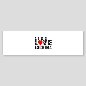 Live Love Escrima Martial Arts Sticker (Bumper)