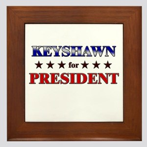 KEYSHAWN for president Framed Tile