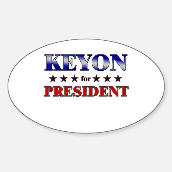 KEYON for president Oval Decal