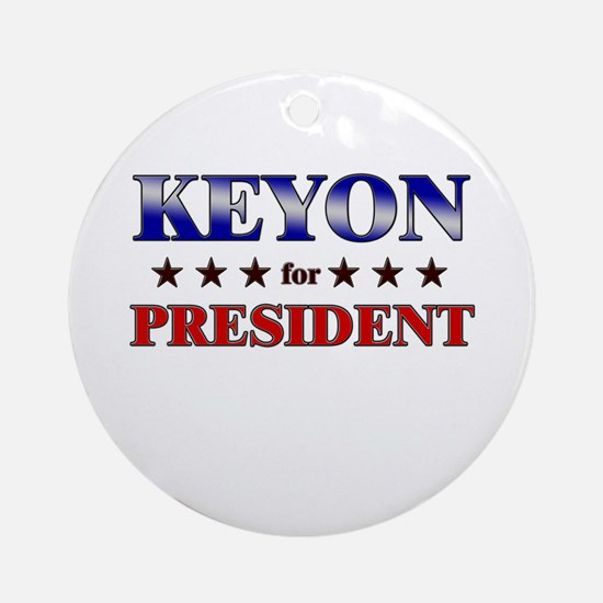 KEYON for president Ornament (Round)
