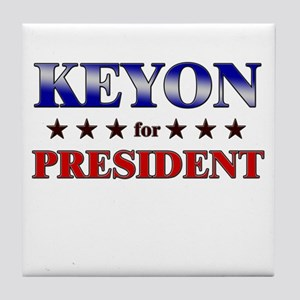 KEYON for president Tile Coaster