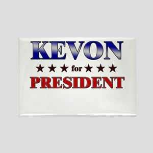 KEVON for president Rectangle Magnet
