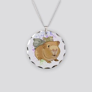 Guinea Pigs Necklace Circle Charm