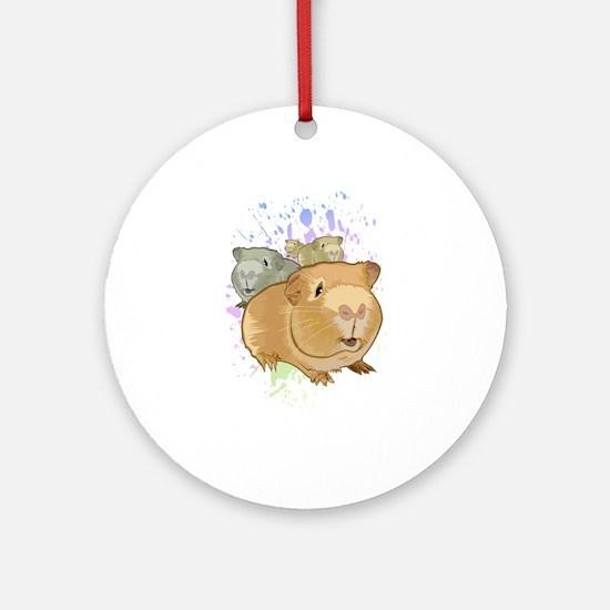 Guinea Pigs Round Ornament