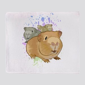 Guinea Pigs Throw Blanket