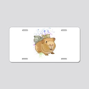Guinea Pigs Aluminum License Plate