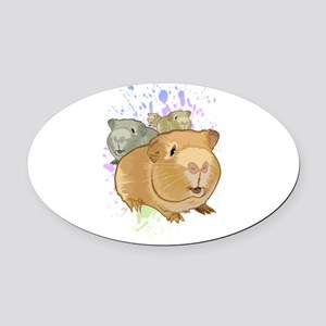 Guinea Pigs Oval Car Magnet