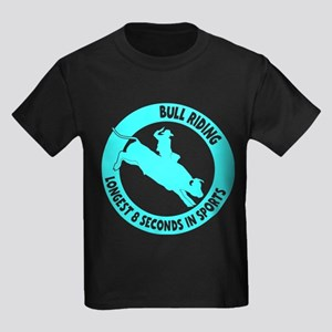 LONGEST 8 SECONDS Kids Dark T-Shirt
