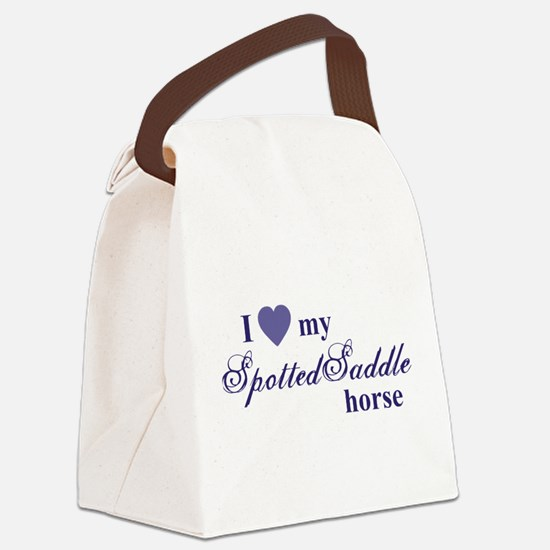 Spotted Saddle horse Canvas Lunch Bag