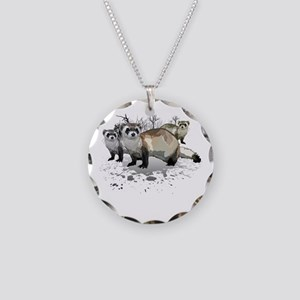 Ferrets Necklace Circle Charm