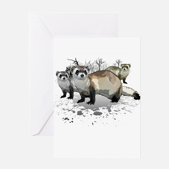 Ferrets Greeting Cards
