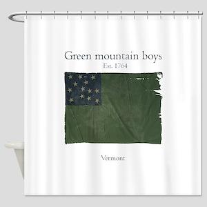 Green Mountain boys Shower Curtain