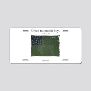 Green Mountain boys Aluminum License Plate