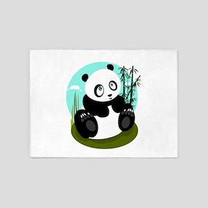 Baby Panda 5'x7'Area Rug