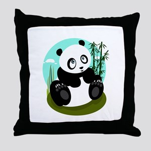 Baby Panda Throw Pillow